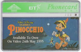 GREAT BRITAIN E-570 Hologram BT - Cinema, Walt Disney, Pinocchio - 525D - Used - Royaume-Uni