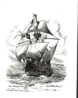 Carte Double - Etienne Blandin -  La Grande Hermine 1534 ( Navire De J. Cartier) - Segelboote