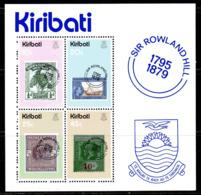 Kiribati 1979 Rowland Hill Death Centenary MS, MNH, SG 104 (BP2) - Kiribati (1979-...)