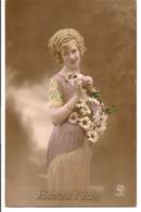 L55b052 - Bonne Fête - Jeune Femme Avec Des Marguerites  - A.Noyer N°2056 - Other