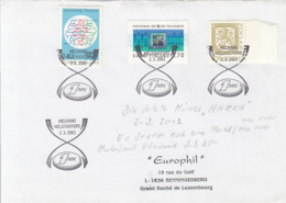 83572- HELSINKI  SPECIAL POSTMARK ON COVER, TRAFFIC, POST BANK, COAT OF ARMS STAMPS, 2002, FINLAND - Finland