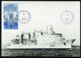 15555 T.A.A.F  N°120° 2F10 Navire De Liaison Avec La Mission Antarctique Kerguelen  Du 1.1.1986   TB - Cartas