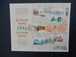 Planche De Timbres Neufs - Belgique - 1914 La Grande Guerre - 2014 - Feuillets