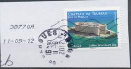 France - Châteaux Et Demeures (Morlaix) YT A725 Obl. Cachet Rond Manuel Et Empreinte Toshiba Sur Fragment - Francia