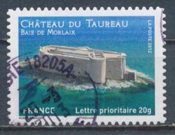 France - Châteaux Et Demeures (Morlaix) YT A725 Obl. Cachet Rond Manuel - Francia