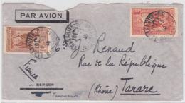 LSC - MADAGASCAR Pour TARARE /  8.3.40 - Poste Aérienne