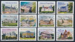 France - Châteaux Et Demeures II - YT A726-A737 Obl. Ondulations - Francia