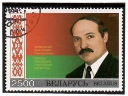 Belarus 1996 . First President A.Lukashenko & Flag. 1v: 2500 .   Michel # 199  (oo) - Belarus