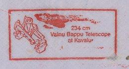 Meter Cover India 1990 Valnu Bappu Telescope - Astronomie