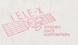 Meter Cover Sweden 1989 Tele-X - Swedish Space Corporation - Satellite - Astronomie