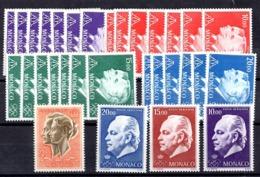 Monaco Poste Aérienne YT N° 90A, N° 97/99 Et N° 100/103 Neufs ** MNH. TB. A Saisir! - Airmail