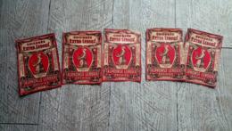 Lot 5 étiquettes Chicorée Extra Leroux Orchies Nord - Andere Sammlungen