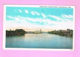 U.S.A. IOWA. CEDAR RAPIDS.   CEDAR RIVER,LOOKING NORTH. - Cedar Rapids