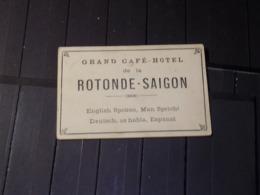 CDV VIETNAM. GRAND CAFE-HÔTEL De La ROTONDE-SAÏGON. Vers 1945 - Visitekaartjes