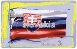 GREECE F-803 Prepaid Amimex - Flag Of Slovakia - Used - Grèce
