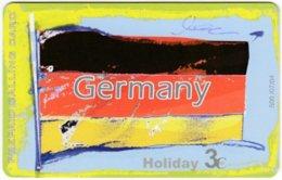 GREECE F-804 Prepaid Amimex - Flag Of Germany - Used - Grèce