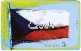GREECE F-808 Prepaid Amimex - Flag Of Czech Republik - Used - Grèce