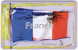 GREECE F-809 Prepaid Amimex - Flag Of France - Used - Grèce