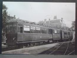 Tramways Motrice N°23 Et Voiture Mixte Fourgon Cliché De J Chapuis Photo N°4 - Trenes