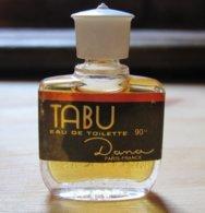 Miniature De Parfum  TABU DE DANA Etiquette Un Peu Tachée - Miniatures De Parfum