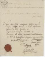 Papier Timbré Bourogne An 2 - 1794 Beau Cachet Fonctions Curiales - Fiscali