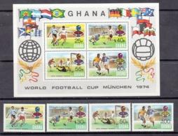 Ghana MNH Michel Nr 564/67 From 1974 / Catw 9.00 EUR - Ghana (1957-...)