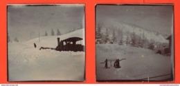 Treno Treni Di Montagna  Cremagliera Svizzera Rack De Train Suisse 2 Foto 1897 Railway - Treni