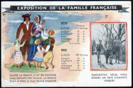 France Guerre 1939 1945 Occupation Propagande Gouvernement De Vichy Pétain Exposition De La Famille Française NC TB - Oorlog 1939-45