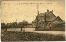 1938 PONT A VENDIN - Vue Peu Courante Sur La GARE - Non Classés