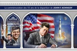 Djibouti 2018, Kennedy, Space, Flag, BF - Francobolli