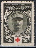 Sello CRUZ ROJA, Croix Rouge DAMES FRANÇAISES, Guillaumat, Vignette, Viñeta, Label * - Red Cross