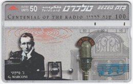 ISRAEL B-766 Hologram Bezeq - Inventor, Guglielmo Marconi - 545B - Used - Israel