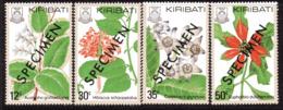 Kiribati 1981 Flowers Set Of 4, Overprinted SPECIMEN, MNH, SG 141/4 (BP2) - Kiribati (1979-...)
