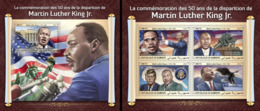 Djibouti 2018, M. L. King, 4val In BF+BF - Martin Luther King