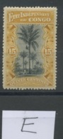 15c Palmier Etat Indépendant. N° 20 *. Propre Trace - 1894-1923 Mols: Neufs