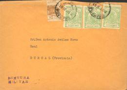 España. Fiscal. Sobre Fis 1(13). 1937. 10 Cts, Tres Sellos FACTURAS. GRANADA A DURCAL. MAGNIFICA. - Fiscales