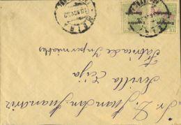 España. Fiscal. Sobre Fis 42(2). 1932. 15 Cts Verde, Dos Sellos MOVIL. MEIRA A ECIJA. Al Dorso Llegada. MAGNIFICA. - Fiscales