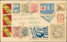 España. Fiscal. Sobre 678. 1937. Diversos Valores Locales, Fiscales Y Benéficos. LA GUARDIA A TUY. Carta Filatélica. MAG - Fiscales
