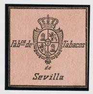España. Fiscal. (*). (1868ca). IMPUESTO DEL TABACO De (1868ca). Sin Valor, Negro Sobre Rosa. FABCª DE TABACOS DE SEVILLA - Fiscales