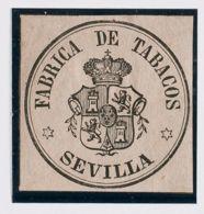 España. Fiscal. (*). (1866ca). IMPUESTO DEL TABACO De (1866ca). Sin Valor, Negro Sobre Lila. FABRICA DE TABACOS / *SEVIL - Fiscales