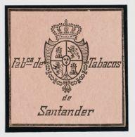 España. Fiscal. (*). (1868ca). IMPUESTO DEL TABACO De (1868ca). Sin Valor, Negro Sobre Rosa. FABCª DE TABACOS DE SANTAND - Fiscales