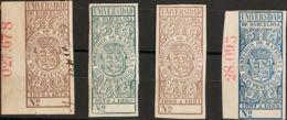 España. Fiscal. MH/USED */º. 1878. DERECHOS DE MATRICULAS De 1878. 15 Pts Castaño (uso Fiscal), 15 Pts Verde, 15 Pts Lil - Fiscales