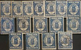 España. Fiscal. º. 1900. EFECTOS DE COMERCIO De 1900. Serie Completa. MAGNIFICA Y MUY RARA. (Alemany 1/16) - Fiscales
