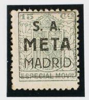 España. Fiscal. (*). 1923. ESPECIAL MOVIL PUBLICITARIO De 1923. 15 Cts Verde (sobrecarga Publicitaria S.A. / META / MADR - Fiscales