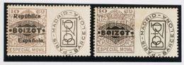 España. Fiscal. (*). (1923ca). ESPECIAL MOVIL PUBLICITARIO De (1923ca). 10 Cts Castaño Y 10 Cts Castaño (República Españ - Fiscales