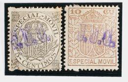 España. Fiscal. MH *. 1923. ESPECIAL MOVIL PUBLICITARIO De 1923. 5 Cts Gris Y 10 Cts Castaño (sobrecarga Publicitaria J. - Fiscales