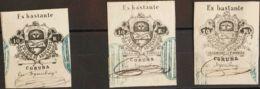 España. Fiscal. º. 1859. LA CORUÑA. COLEGIO DE ABOGADOS De 1859. 10 Reales Negro Y Dos Fiscales Del 10 Reales Negro POBR - Fiscales