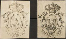 España. Fiscal. (*). (1860ca). CADIZ. COLEGIO DE ESCRIBANOS De (1860ca). Sin Valor, Negro, Dos Fiscales Con Diferentes T - Fiscales