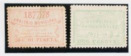 España. Fiscal. (*). 1877. MADRID. DEPOSITOS De 1877. Serie Completa (el 50 Cts Defectito, Sin Importancia). BONITA Y RA - Fiscales