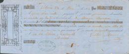España. Fiscal. Sobre . 1866. 2 Reales 50 Cts Rojo Sobre Amarillo, Sello De GIRO Sobre Letra De Cambio Fechada En Vitori - Fiscales